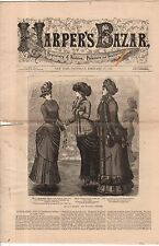 1883 Harpers Bazar February 17-Skating & walking costumes;Boys suits;Ball dress