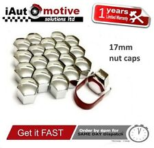 20x Alloy Wheel Nut Caps Bolt Covers Vauxhall Volvo Ford Peugeot Citroen VW 17mm
