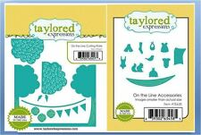 Taylored Expressions Cutting Plate ON THE LINE W/ Accessories Dies ~TE627, TE628