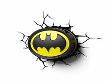 BATMAN DC COMICS LOGO 3D WALL DECO LIGHT 3DFX CRACK WALL STICKER INCLUDED