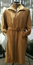 "Mens Giorgio Armani Mac Coat Tan Double Lined Faux Fur Lined XXL C48"" Unisex Vtg"