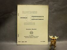 Electronic Circuits Missile Components Department Handout Booklet X-7180