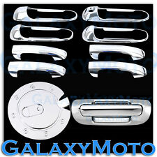 99-04 JEEP GRAND CHEROKEE Chrome 4 Door Handle NO PSG KeyHole+Tailgate+GAS Cover