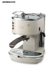 DELONGHI ECOV310/1BG VINTAGE ICONA COFFEE MACHINE, BEIGE / CREAM
