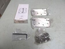 "1 Pair GENERATION 4 58155 4"" US15 SATIN NICKEL 5/8 FM RES ADJ SPRING HINGE FSHIP"