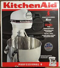 KitchenAid KP2671X White Professional 6 Quart Stand Mixer NIB 525 Watt HeavyDuty
