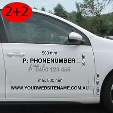 Your Web Site and Phone Number Sticker