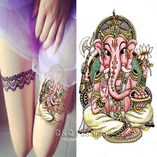 Mandala Ganesh Om Elephant Arm Leg Body Art Waterproof Temporary Tattoo Sticker