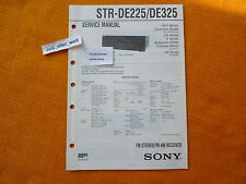 SERVICE MANUAL SONY STR DE225 DE325 english Anleitung hifi
