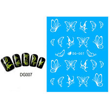 Magic Luminous Nail Art Sticker Amazing Glow In the Dark Butterfly Tips Decor