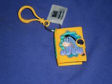 Vintage Disney Winnie The Pooh Pal Eeyore Mini Notebook Key Chain/Pull Applause