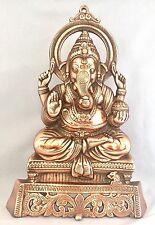 Ganesha large 38 cms Ganesh elephant face god Hinduism Bronze W/h Mouse statues