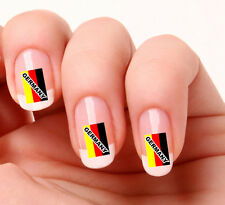 20 Nail Art Decals Transfers Stickers #723 - German Flag Germany