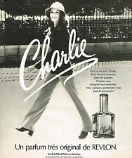 PUBLICITE ADVERTISING 015  1975   REVLON   un grand parfum femme CHARLIE