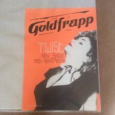 Huge Vintage Goldfrapp TWIST Original Single Promo Rock Music Poster Memorabilia