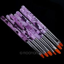 7 Pcs Nail Art Design Tips Set Dotting Painting Drawing Polish Brush Pen Tools