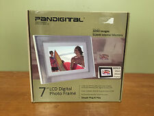 "Pandigital 7"" 512MB LCD Digital Picture Photo Frame - 4000 Photos - 2 Frames"