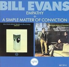 Empathy/A Simple Matter of Conviction by Bill Evans (Piano) (CD, Feb-1989,...