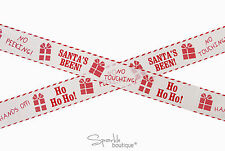 Santa's Been Christmas Security Tape for Gifts/Presents -Fun Xmas Decoration- 5m