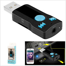 Multifunction Car SUV 3.5mm Bluetooth Receiver Adapter Phone Handfree MP3 Player