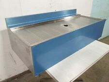 """""""EAGLE"""" HD COMMERCIAL S.S. BAR UNDER COUNTER 48""""Wx22""""Dx18""""H MODULAR DRAIN BOARD"""