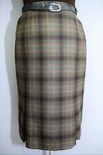 LADIES TARTAN WOOL SKIRT CHECK PLAID IRISH BRENDELLA VTG COUNTRY HUNTING 14 16