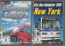 City bus simulator 2010 new york + difficile transport simulateur 2011 collection pc