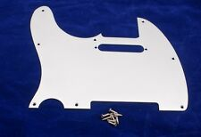 BRUSHED ALUMINIUM FINISH LEFT HANDED SCRATCHPLATE FOR FENDER TELECASTER