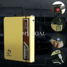 USB lighter Electronic Flameless Windproof Lighter with Metal Cigarette Case