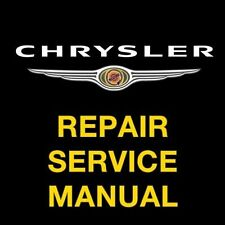 CHRYSLER TOWN & COUNTRY 2008 2009 2010 FACTORY REPAIR SERVICE WORKSHOP MANUAL