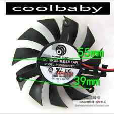 53mm power logic PLD06010S12L video card Fan 2Pin 42*42*42mm