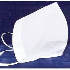 WHITE COIF BONNET REPRODUCTION ONE SIZE FITS ALL NEW