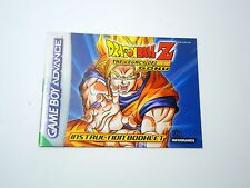 DRAGONBALL Z LEGACY OF GOKU manual only Nintendo Game Boy Advance GBA ENGLISH