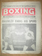 VINTAGE BOXING NEWS MAGAZINE JANUARY 31st 1958 DAVE CHARNLEY DEFEATS DON JORDAN