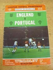 20/11/1974 angleterre/portugal [à wembley] (plié, lourd plié). objet de très