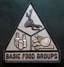 BASIC FOOD GROUPS USA ARMY MORALE ISAF MILITARY TACTICAL BADGE SWAT VELCRO PATCH