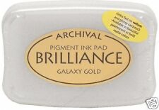 BRILLIANCE Archival Pigment Ink Pad - GALAXY GOLD New!