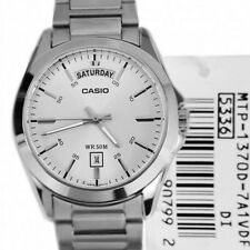 CASIO MEN'S STAINLESS STEEL DAY DATE 50 METERS WATCH MTP1370D-7A1V