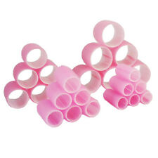24 x PLASTICA Velcro Capelli Rulli Bigodini Rosa Small Medium Large JUMBO 20mm-55mm