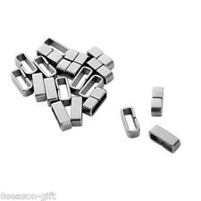 100PCs Stainless Steel Flat Clasp Jewelry Necklace Bracelet Findings