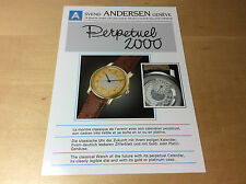 Press Release SVEND ANDERSEN - Perpetuel 2000  - FR DE ENG - Watch NOT Included