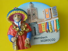 Morocco Marrakech Market Water Seller Refrigerator 3D Fridge Magnet Marrakesh