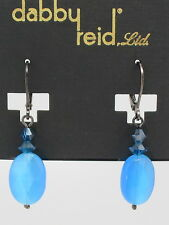 DABBY REID NEW Royal Blue Cats Eye Short Drop Earrings RME7191B Y21