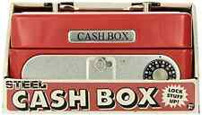 Schylling Cool Retro Vintage Locking Cash Box double lock, Key Combination Safe