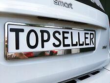 1 x Kennzeichenhalter Nummernschildhalter T Chrom Metallic Autozubehör Auto Car