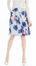 NWT $138 Banana Republic Womens Blue Watercolor Pleated Skirt 14 Midnight Floral