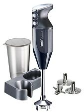 Bamix Mono Hand Held Blender Food Mixer Processor, 160W, Black