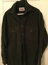 Filson Moleskin Shirt, Lovat Green, Size Medium