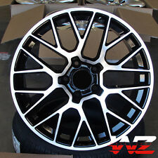 "20"" Black Machined Wheels Rims Fits Porsche GTS S Turbo VW Touareg Audi Q7 5x130"