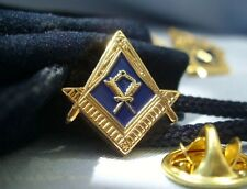 Masonic Freemasonry Lodge Officer Assistant Secretary Jewel Lapel Pin Plus Pouch